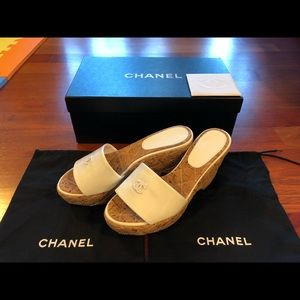 Authentic Chanel Mules Shoes Sandal size 36 6